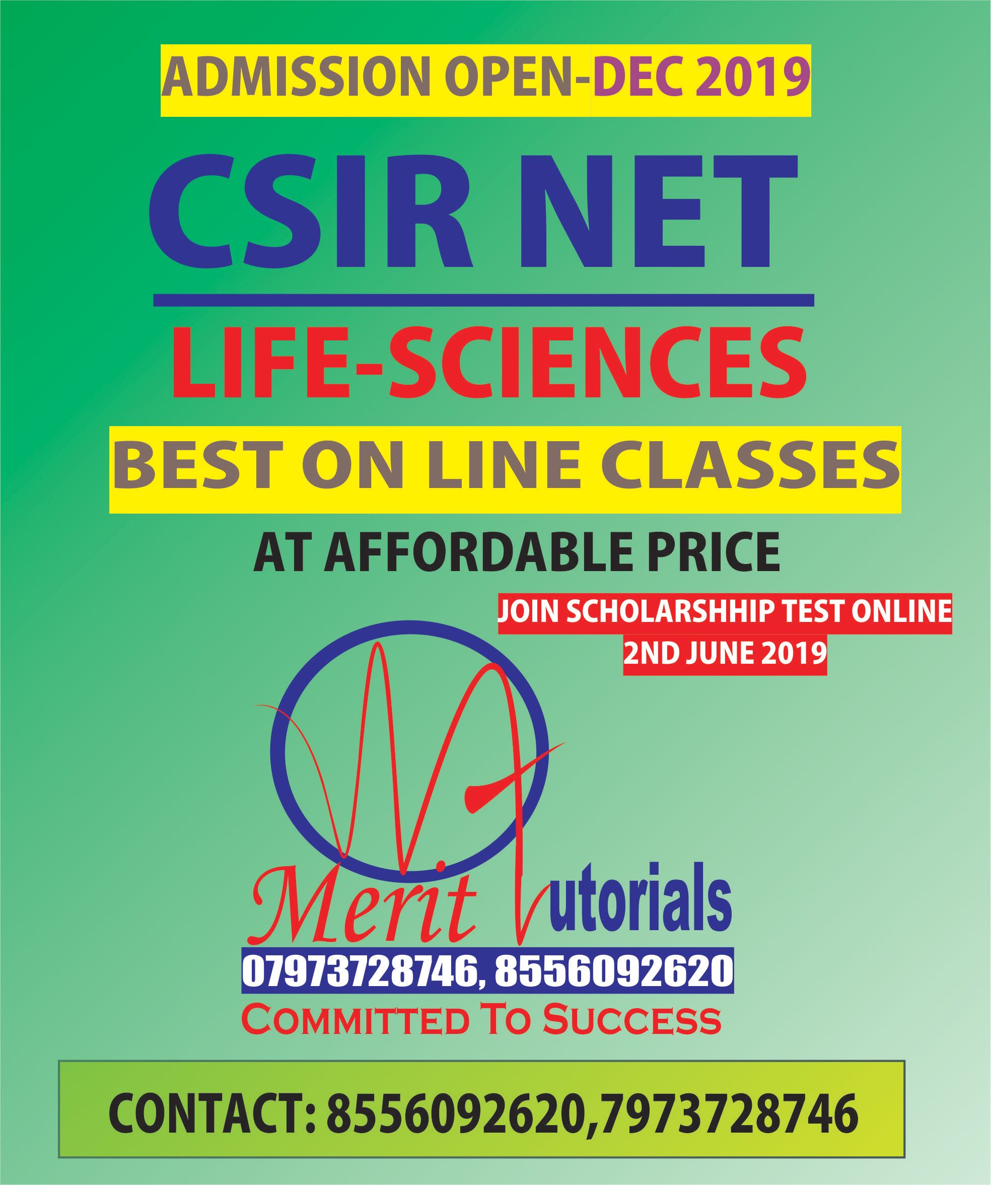 CSIR NET | GATE LIFE SCIENCES BUY VIDOE LECTURE WITH WEEKLY DOUBT CLEARING  SESSIONS -SELF PACE LEARNING